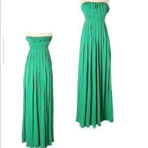Max Studio Strapless Maxi Green amazing dress